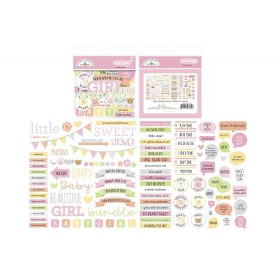 Doodlebug Baby Girl Die Cuts - Chit Chat