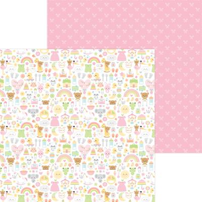 Doodlebug Baby Girl Designpapier - Bundle Of Joy
