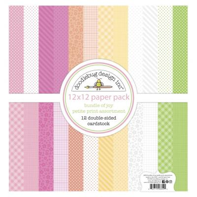 Doodlebug Baby Girl Designpapier - Petite Print Assortment Pack