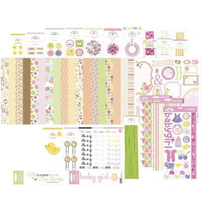Doodlebug Baby Girl Scapbook Set - Value Bundle