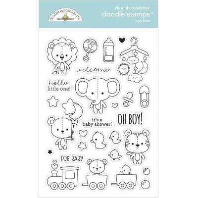 Doodlebug Baby Boy Doodle Stamps - Toy Box
