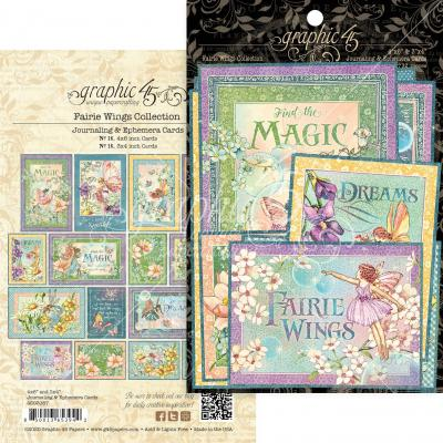 Graphic 45 Fairie Wings - Ephemera & Journaling Cards