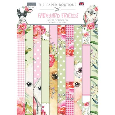 The Paper Boutique Farmyard Friends Designpapier - Insert Collection
