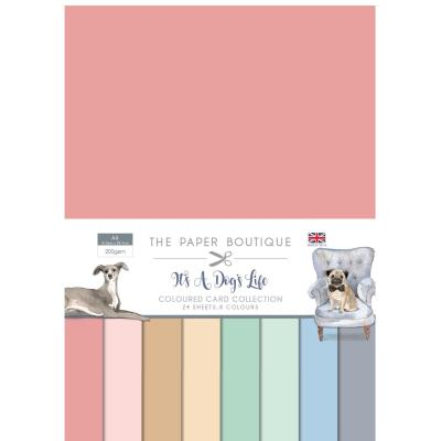 The Paper Boutique It's A Dogs Life Cardstock - Coloured Card Collection