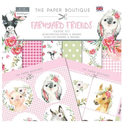 The Paper Boutique Farmyard Friends Designpapier - Paper Kit