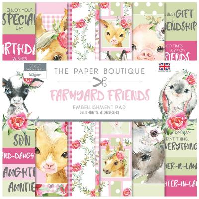 The Paper Boutique Farmyard Friends Designpapier - Embellishment Pad