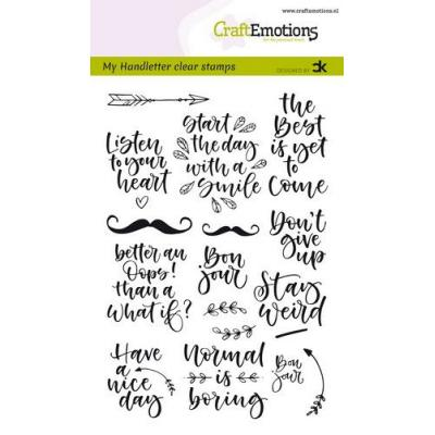 CraftEmotions Clear Stamps - Quotes 1