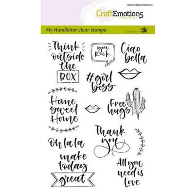 CraftEmotions Clear Stamps - CraftEmotions clearstamps A6 - Quotes 2