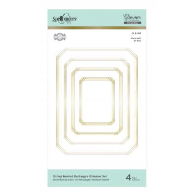 Spellbinders Hot Foil Plates - Guilded Nested Rectangle Glimmer