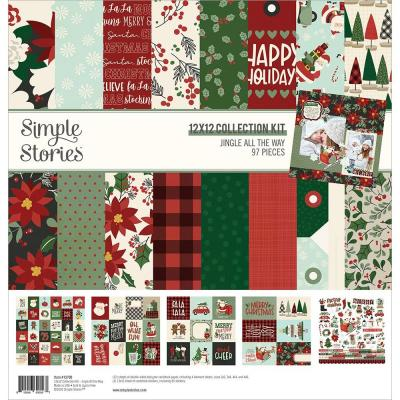 Simple Stories Jingle All The Way Designpapier - Collection Kit