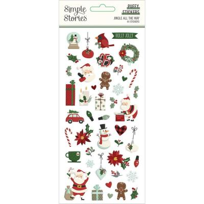 Simple Stories Jingle All The Way - Puffy Stickers