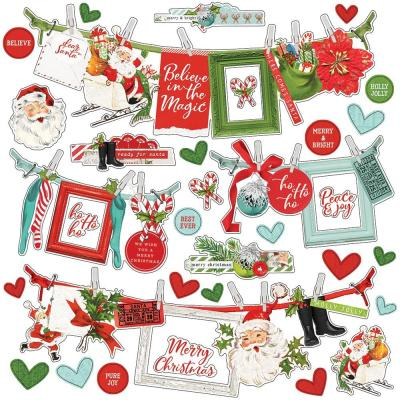 Simple Stories Simple Vintage North Pole - Cardstock Stickers