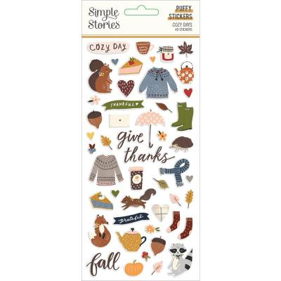 Simple Stories Cozy Days - Puffy Stickers