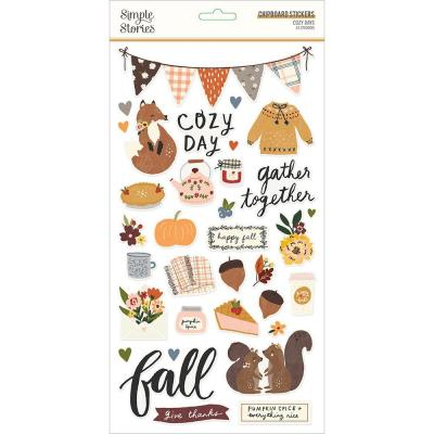 Simple Stories Cozy Days - Chipboard Stickers