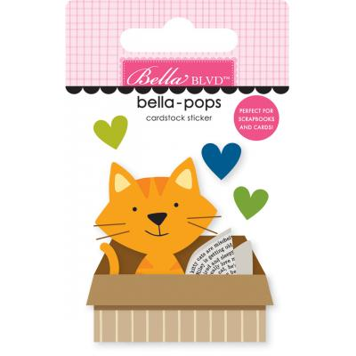 Bella BLVD Chloe Bella-Pops Sticker - Cat in a Box