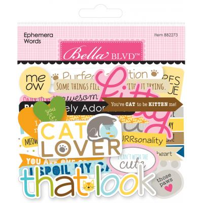 Bella BLVD Chloe Die Cuts - Ephemera Words