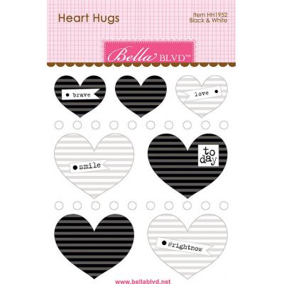 Bella BLVD Chloe Sticker - Black & White Heart Hugs