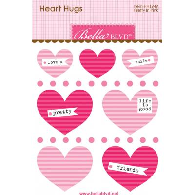 Bella BLVD Chloe Sticker - Pretty in Pink Heart Hugs