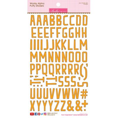 Bella BLVD Chloe Sticker - Orange Wonky Alpha Puffy Stickers