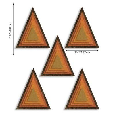 Sizzix Thinlits Die Set - Stacked Tiles Triangles