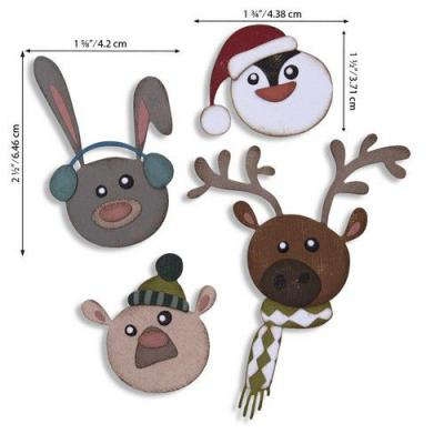 Sizzix Thinlits Die Set - Winter Critters