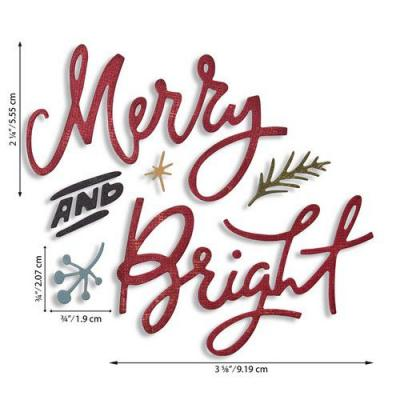 Sizzix Thinlits Die Set - Merry & Bright