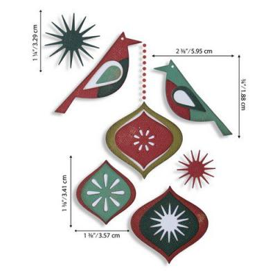 Sizzix Thinlits Die Set - Ornamental Birds