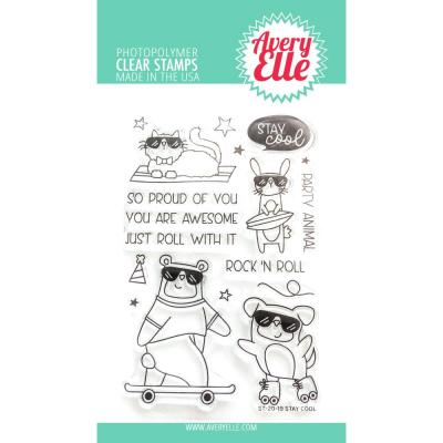 Avery Elle Clear Stamps - Stay Cool