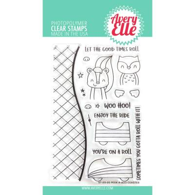 Avery Elle Clear Stamps - Peek-A-Boo Coaster