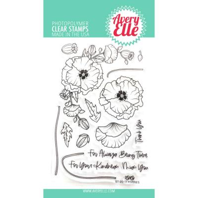 Avery Elle Clear Stamps - Poppies