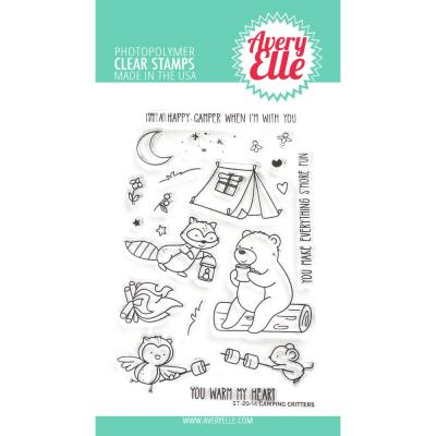 Avery Elle Clear Stamps - Camping Critters
