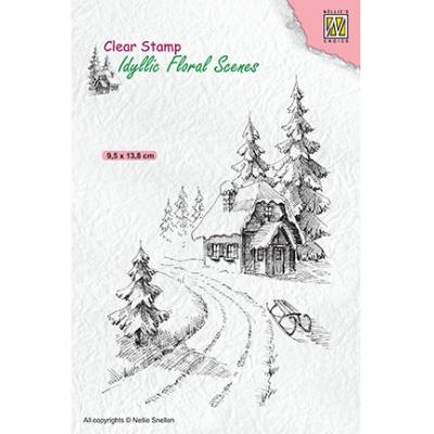 Nellie's Choice Clear Stamp - Wintery House