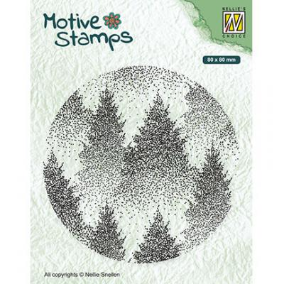 Nellie's Choice Clear Stamp - Misty Forest