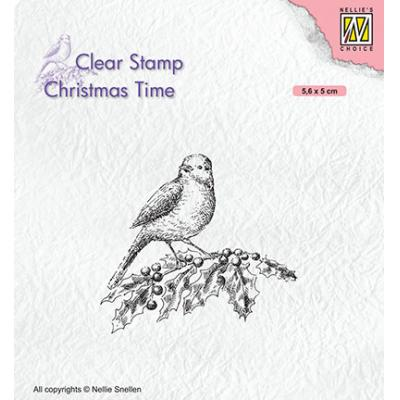 Nellie's Choice Clear Stamp - Bird On Hobbybranch