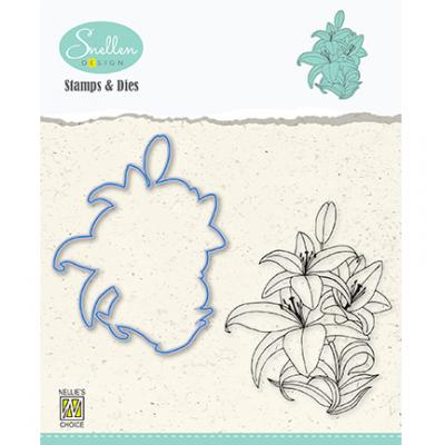 Nellie's Choice Clear Stamp & Dies - Lily