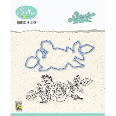 Nellie's Choice Clear Stamp & Dies - Rose