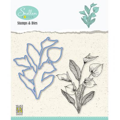 Nellie's Choice Clear Stamps & Dies - Anthurium