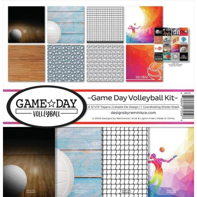 Reminisce Designpapier - Game Day Volleyball
