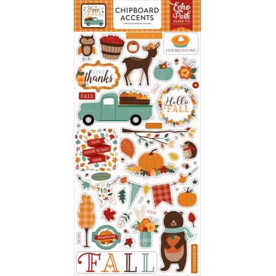 Echo Park Happy Fall Sticker - Chipboard Accents