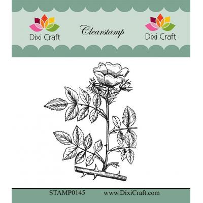 Dixi Craft Botanical Collection Clear Stamp - 11 Teerose