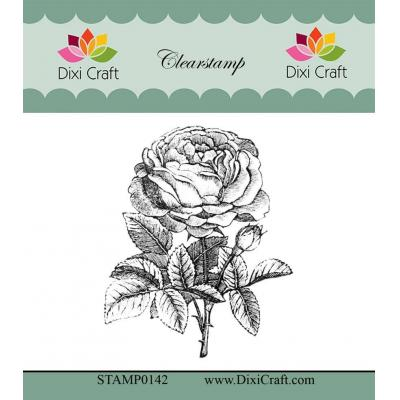 Dixi Craft Botanical Collection Clear Stamp - 8 Rose