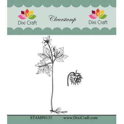 Dixi Craft Botanical Collection Clear Stamps - 1 Malve