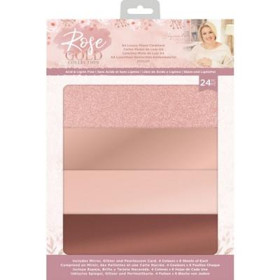 Crafter's Companion Rose Gold - Luxury Mixed Cardstock