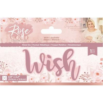Crafter's Companion Rose Gold Die - Wish