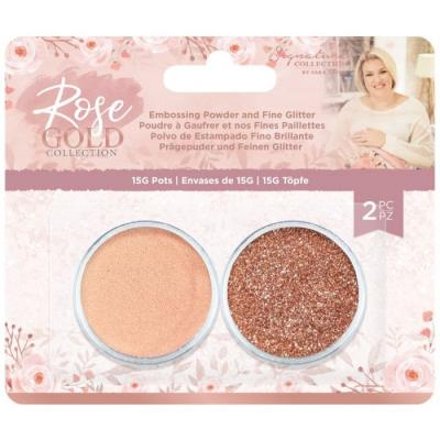 Crafter's Companion Rose Gold - Embossing Powder and Fine Glitter