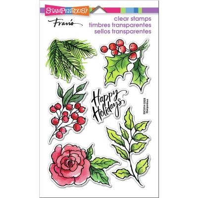 Stampendous Perfectly Clear Stamps -  Leafy Holiday