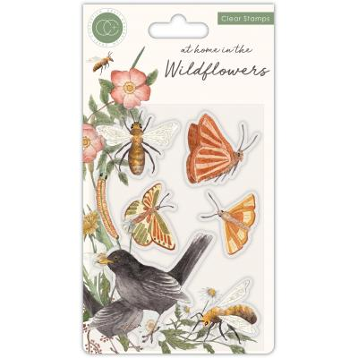Craft Consortium At Home in the Wildflowers Clear Stamps - Bees & Butterflies