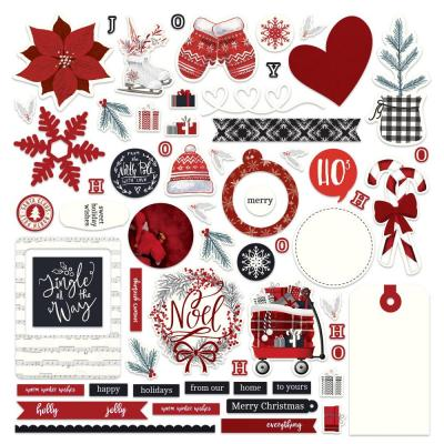 PhotoPlay Christmas Cheer Collection Card Kit Sticker - Christmas Cheer