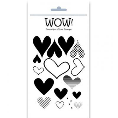 WOW! Clear Stamps - Layered Hearts