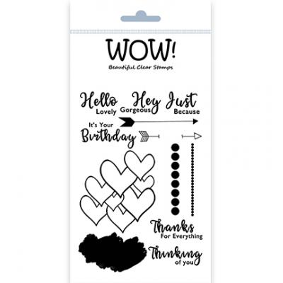 WOW! Clear Stamps - Hello Lovely